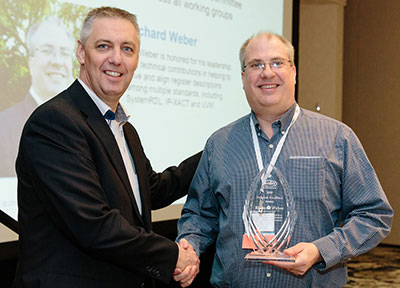 Richard Weber Receiving Accellera Technical Excellence Award